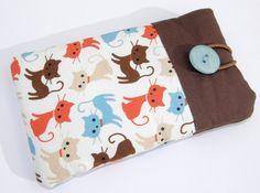 Handytasche Retro Katze  ~ Wunschmaß von ★Watercolour - Handytaschen, Taschen und noch mehr ... auf DaWanda.com