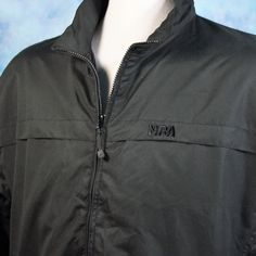 NRA Tactical Shell Jacket Mens XL Black Embroidered Windbreaker Concealed Carry #NRATactical #Windbreaker