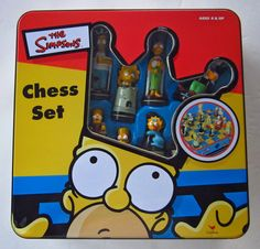 The Simpsons 3D Chess Set Game in Collectors Tin  #Cardinal