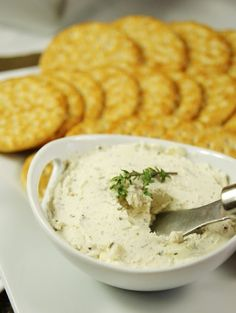 Homemade Boursin-style cheese spread ... easy, elegant, & flavorful. thekitchenismyplayground.blogspot.com #Boursin #cheese