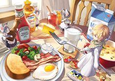 [pixiv] I love when you eat so much! - pixiv Spotlight