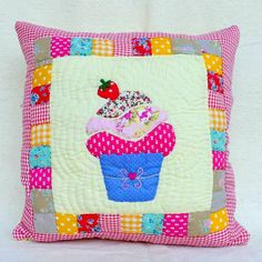 Cupcake theme pillow cover/cushion by Pamposh on Etsy