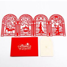 Valentine's Day Gifts Birthday 3D laser cut pop up paper Handmade postcards custom greeting love cards Personalized Invitatons