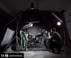 Image by @joelventura | Trying to find the right light for this mate black Moto…