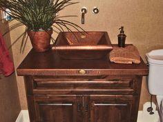 Copper Bathroom Sinks - Copper Spun Custom Vanity Copper Sinks by Circle City Copperworks