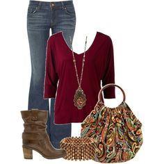Paisley Purse and Jeans