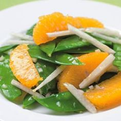 Simple Side Salad Recipes (Snow pea, Orange and Jicama Salad) Simple Side Salad Recipe, Side Salad Recipes, Healthy Cooking, Healthy Eating, Healthy Recipes, Pea Recipes, Citrus Recipes, Diabetic Recipes, Diabetic Foods