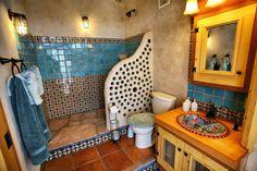 Earthship bathroom - www.earthship.com
