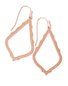 Meet Sophia, the little sister to our most-loved Sophee Earrings. With a petite frame of delicate rose gold detailing, these drop earrings are sure to complement your every style.