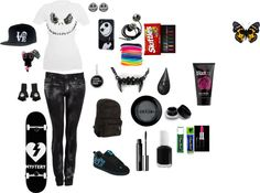 """""""Skater Girl outfit 2"""" by slytheringirl2013 ❤ liked on Polyvore"""