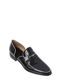 CESARE PACIOTTI - BRUSHED LEATHER D'ORSAY LOAFERS