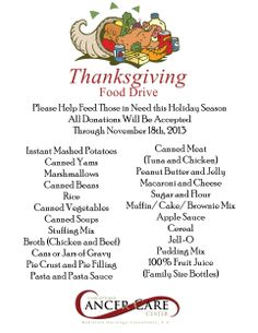 The items requested for donation were a collection of ingredients that would make up the traditional thanksgiving feast Thanksgiving Blessings, Thanksgiving Traditions, Thanksgiving Feast, Thanksgiving Recipes, Canned Food Drive, Canned Meat, Food Bank Donations, Food Drive Flyer, Little Free Pantry