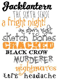 10 free halloween fonts for you | Color Me Meg