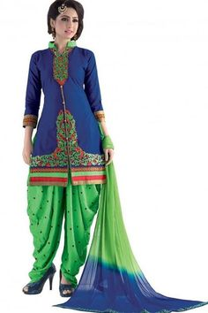 INQUIRY WHATSAPP /  Call- 91 9624913609 Women's Unstitched Blue And Green Colour Embroidery Salwar Suit Material For Daily Work Wear http://www.justkartit.com/latest-salwar-kameez-collection-salwar-suit-for-office-party--salwar-kameez-for-office-party.-patiala-suit-for-punjabi-wedding-patiala-suit-for-punjabi-party-ethnic-wear-for-office-beautiful-ethnic-wear-2017-patiala-salwar-suit-2016?utm_source=dlvr.it&utm_medium=facebook&utm_campaign=justkartit #Diwali