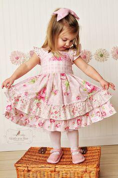 Pink Floral Easter Dress Beautiful Vintage Inspired Pink Easter Dress by… Little Dresses, Little Girl Dresses, Cute Dresses, Girls Dresses, Toddler Dress, Baby Dress, Pink Dress, Baby Easter Dresses, Easter Dresses For Toddlers
