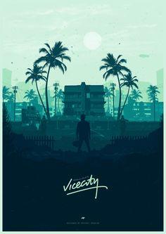 Welcome back to Vice City - Poster Spy Miami Wallpaper, City Wallpaper, City Poster, Poster S, Video Game Posters, Video Game Art, Video Games, San Andreas Gta, Gfx Design