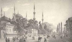 Eugene Napoleon Flandin Sultanahmet Camii ve Meydanı Napoleon, Istanbul, Taj Mahal, Paris, Painting, Travel, Montmartre Paris, Viajes, Painting Art