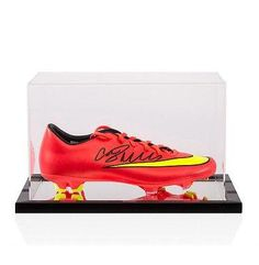 Cristiano Ronaldo Hand Signed Football Boot - Nike Mercurial With Acrylic  Displa - Autographed Soccer Cleats 5fad7cab5
