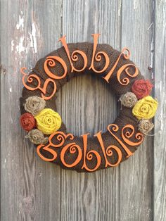 Gobble Gobble Thanksgiving wreath