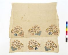 Towel or napkin - Victoria & Albert Museum - Search the Collections Used Victoria, V & A Museum, National Art, The V&a, Satin Stitch, Victoria And Albert Museum, Metal Working, Embroidery Designs, Napkins