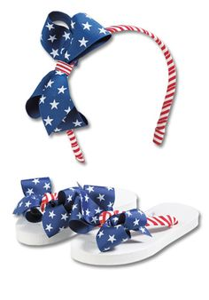 Americana headband and flip-flops  http://www.cwdkids.com/servlet/quagga/girls/product.jsp/_qprm_/browse?groupId=11830=Y846=girls-shoes