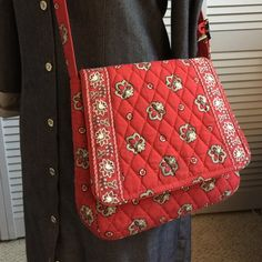 Vintage Vera Bradley Red Bandana Crossbody Beautiful vintage Vera Bradley red and white crossbody.  This great VB is just perfect for summer and hands free shopping or sight seeing in style.  Clean inside and out. Vera Bradley Bags Crossbody Bags