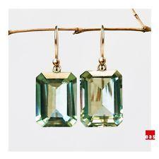 PURE SOLID GOLD 18K 14K Pearl Daisy Carnelian Designer Earrings Hook Leverback