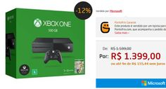 Console Xbox One 500GB  Jogo FIFA 17 (Download via Xbox Live)  1 Mês de EA Access << R$ 139900 em 9 vezes >>