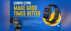 The Lenovo E1 Pro smartwatch comes with full touch HD screen of 1.4-inch display. Tab to read. Gadget News, Sports App, Physical Condition, Cloud Based, Smartwatch, Blood Pressure, Touch, Display, Reading