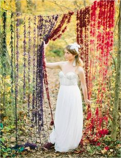 Oriental style weddings often incorporate lots of colour. This stunning reveal would be ideal for this theme as an entrance to a room or outside which you would like guests to be revealed to.