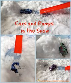 [original_tittle] – Kayla Jones [pin_tittle] Cars and Ramps in the Snow – a fun science exploration! Winter Outdoor Activities, Snow Activities, Science Activities, Classroom Activities, Preschool Activities, Outdoor Education, Outdoor Learning, Outdoor Play, Winter Fun
