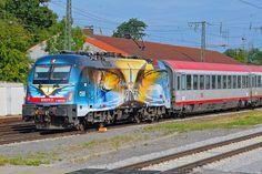 Trains, Railways and Locomotives: Railcolor.net #obb #siemens #es64u4 #wagner #verdi
