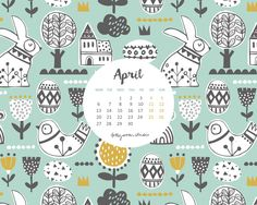 Yay!! Here we go into April...spring is on the way...finally!!!     Here are this months free downloadable calendars for you to enjoy...hav...
