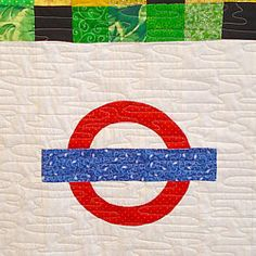 london underground map tube patchwork quilt logo with long arm longarm quilting detail england uk kew gardens london quilt sew sewing