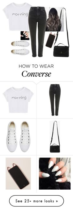 """Untitled #6218"" by hannahmcpherson12 on Polyvore featuring WithChic, Topshop, Converse and Azalea"