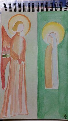 """«Ti saluto, o piena di grazia, il Signore è con te» Angelo messaggero di Dio annuncia gioia vera e pace! Per i miei fratelli e i miei amici io dirò: «Su di te sia pace!» Buona quarta domenica di Avvento  """"Hail, full of grace, the Lord is with you"""" Angel God messenger  announces true joy and peace! Good fourth Sunday of Advent"""