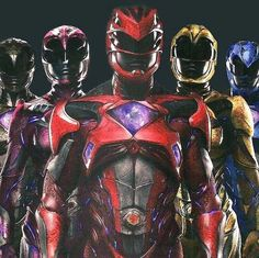 Images from the Licensing Expo in Brazil offer a new look at the super-powered suits from Lionsgate's Power Rangers reboot. Power Rangers 2017, Go Go Power Rangers, Power Rangers Reboot, Power Rangers Movie 2017, Power Rangers Poster, Power Ranger Dino Charge, Power Ranger Party, Kamen Rider, Cartoon Network
