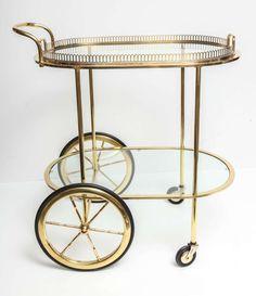 Brass Bar Cart 2