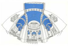 Gérard michel is a belgian architect and these are some of his thousands of sketches that are all drawn on site. Perspective Game, Miss Moss, Drawing Sketches, Drawings, Best Vibrators, Michel, Artist Art, Shades Of Blue, Illustration