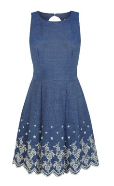 love this denim dress, so easy to add a cute lace sleeve! Oasis €56