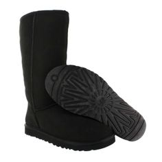 UGG Australia Women's CLASSIC TALL sheepskin fashion boots 12-5815 blk