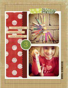 December Daily, Day 3 &4 - Home - Sprague Lab - Digital and Hybrid Scrapbooking + Notes from JessicaSprague.com + Daily Goodness