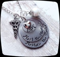 Physical Therapy Jewelry, DPT, PT, PTA, Physical Therapy Staff, Rehab Office Professional Necklace