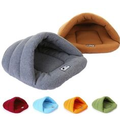 When you can't choose your shipping country, pls contact us quickly! Washable Pet House Candy-colored warm sleeping bag nest. Material: Bamboo fleece. Color: Blue, Green, Orange, Brown, Wine Red, Gray. Specifications: XS, S, M, L. XS: 28*...