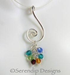 Argentium Silver Spiral Mothers Pendant by SerendipDesignsJewel, $42.00
