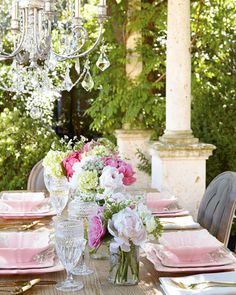 12-Piece Pink Square Baroque Dinnerware Service - Neiman Marcus