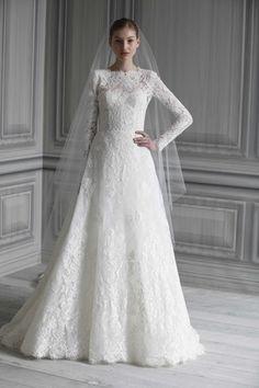 Monique Lhuillier- traditonal wedding dress