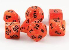 Vortex Dice (Orange) RPG Role Playing Game Dice