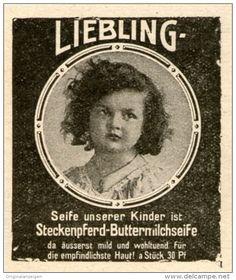 Original-Werbung/Inserat/ Anzeige 1915 - STECKENPFERD BUTTERMILCHSEIFE- ca. 50 X 45 mm