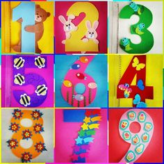 Number craft idea for kids This page includes number craft(number 1 . Preschool Art Activities, Numbers Preschool, Math For Kids, Crafts For Kids, Number Crafts, Diy Classroom Decorations, Class Decoration, Business For Kids, Kids Education